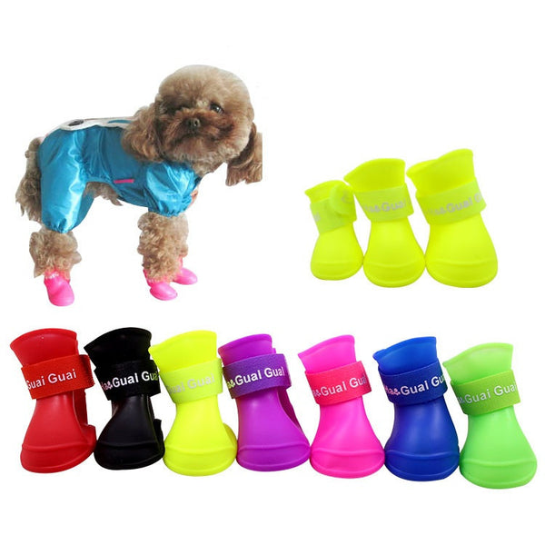 Pets Dog Cat Shoes Rain Paw Protective -  - Molly Brands - Molly Brands