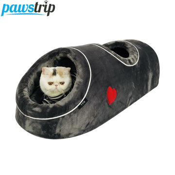 Winter Cat Beds Soft Warm Small Dog Bed Coral Fleece Cat Tunnel Bed Pet Nest Bed For Dog Cats S/L