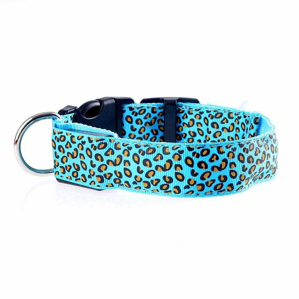 Pet Collar Leopard Charge Collar Led Glow Dog With Pet Dog Collar - Collar - Molly Brands - Molly Brands