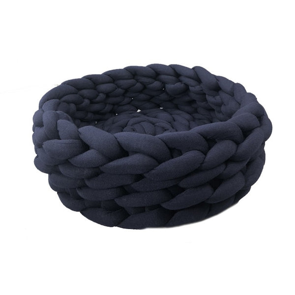 pawstrip 3 Size Handmade Knit Cat Bed Winter Warm Small Dog Beds Soft Cat Cave Beds Washable Pet Beds For Cats 35/40/45cm - Bedding - Molly Brands - Molly Brands