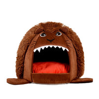 Foldable Pet House Dog Bed Lion Shape Dog House With Pad Cute Pet Kennel Nest Warm Dog Sofas Cat Sleeping Bed Dog Products 8O17 - Bedding - Molly Brands - Molly Brands