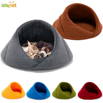 Winter Warm Dog Bed Pet Dog House Soft Suitable Fleece Cat Dog Bed House for Dog Cushion Cat Sleeping Bag Nest High Quality 10c4