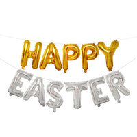 16 inch Large Happy Easter  Foil Balloon Set Banner Bunting Party Decoration