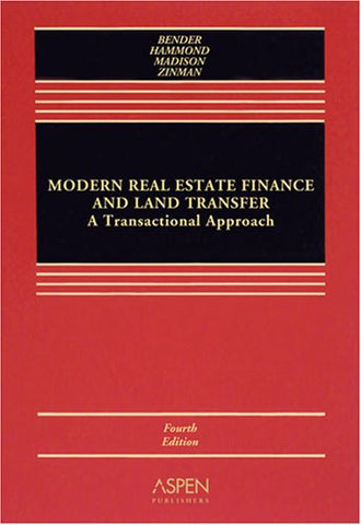 Modern Real Estate Finance & Land Transfer: Trans Approach