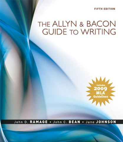 The Allyn & Bacon Guide To Writing: Mla Update Edition (5Th Edition)