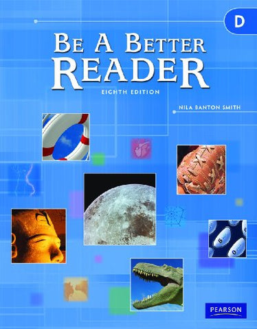 Be A Better Reader Level D Student Worktext