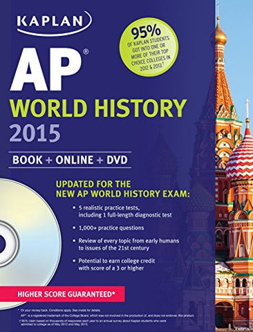 Kaplan Ap World History 2015: Book + Online + Dvd (Kaplan Test Prep)