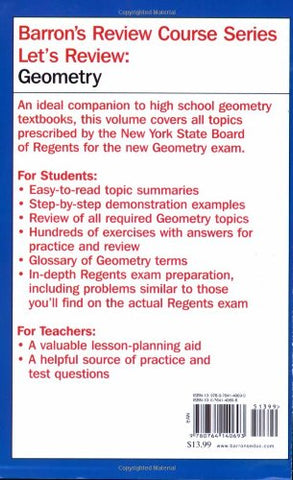 Let'S Review: Geometry (Let'S Review Series)