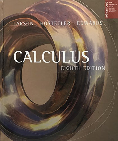 Larson Calculus Advanced Placement Eighth Edition