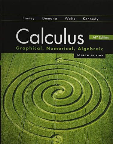 Calculus 2012 Student Edition (Finney/Demana/Waits/Kennedy) With Mathmxlfor School 1-Year Student Registration