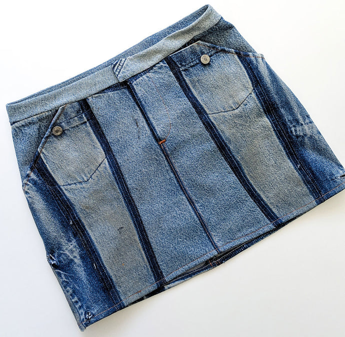 Four Ways To Style a Denim Moss Skirt
