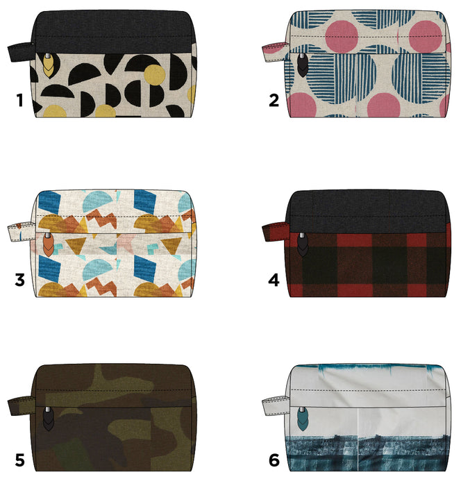 Portside Dopp Kit Fabric Inspiration
