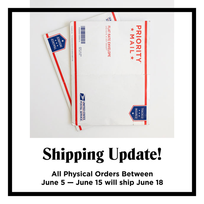 A Quick Shipping Update