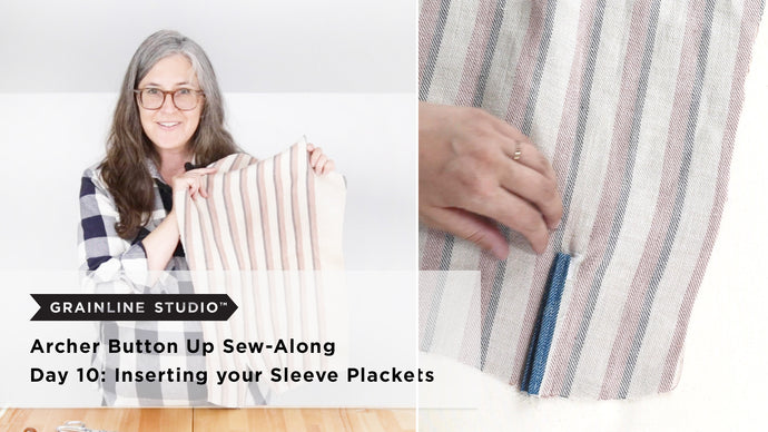Archer Sew-Along: Day 10 – Inserting your Sleeve Plackets