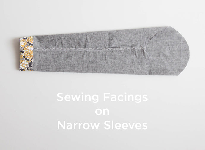 Sewing Facings on Narrow Sleeves