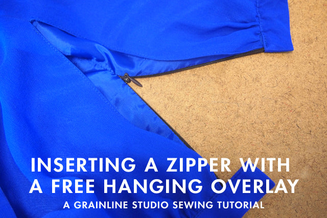 Sewing Tutorial | Zippers with Free Hanging Overlay | Grainline Studio