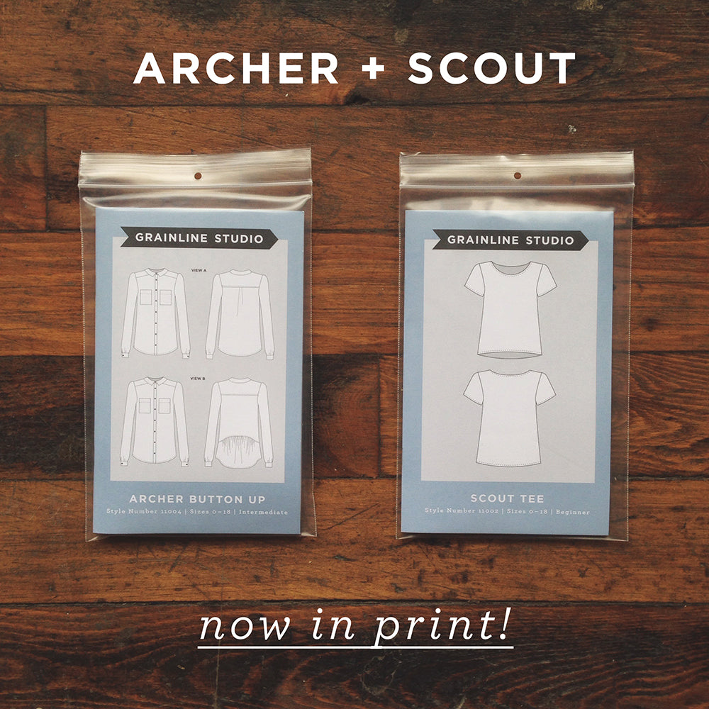 Grainline Studio | Archer & Scout Now in Print