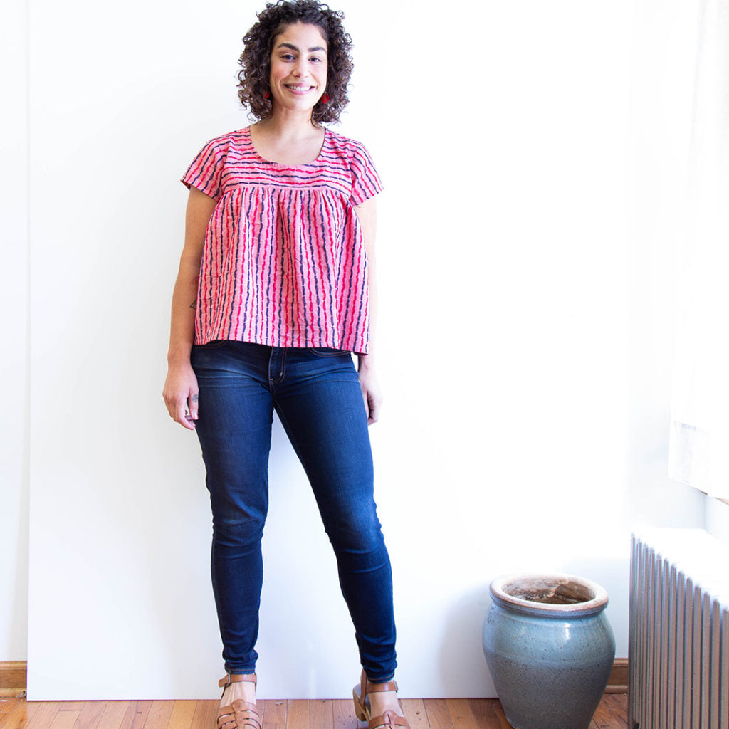 Scout Tee Modification 08: Gathered Scout | Grainline Studio