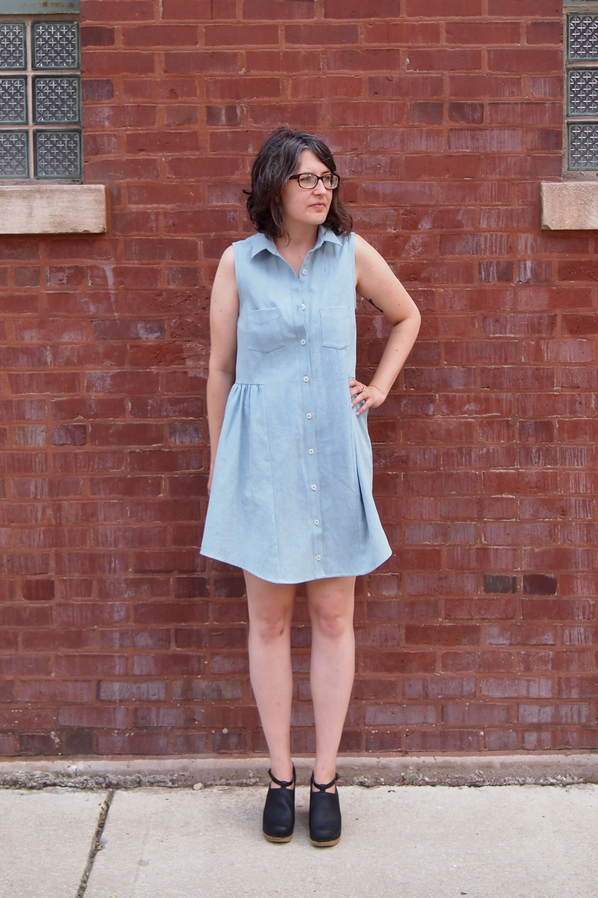 Grainline Studio | Alder Shirtdress V2: Light Denim