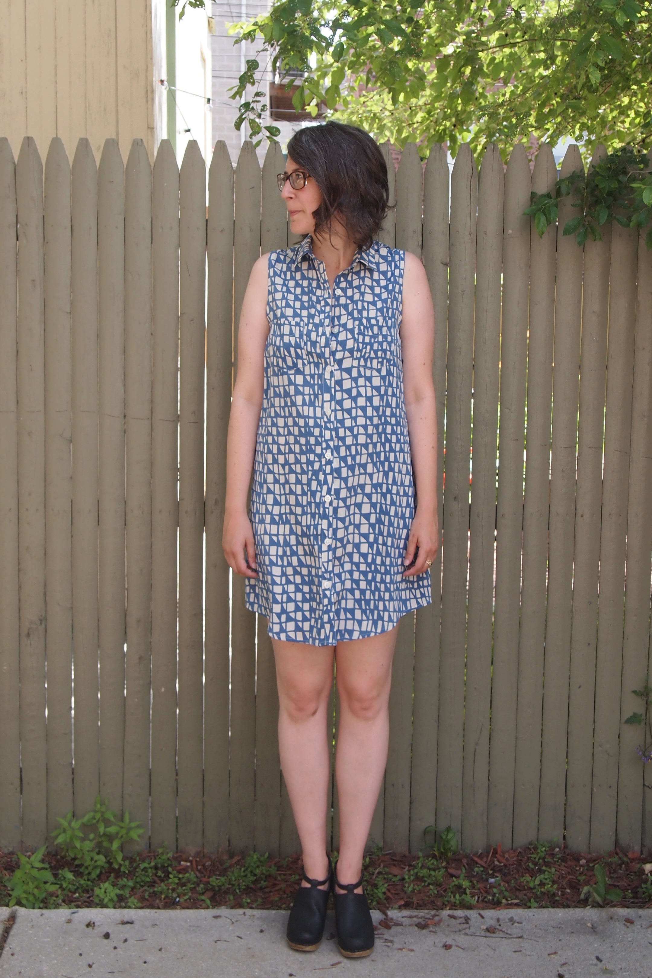 Alder Shirtdress Versions 3 & 4: Printed Silk | Grainline Studio
