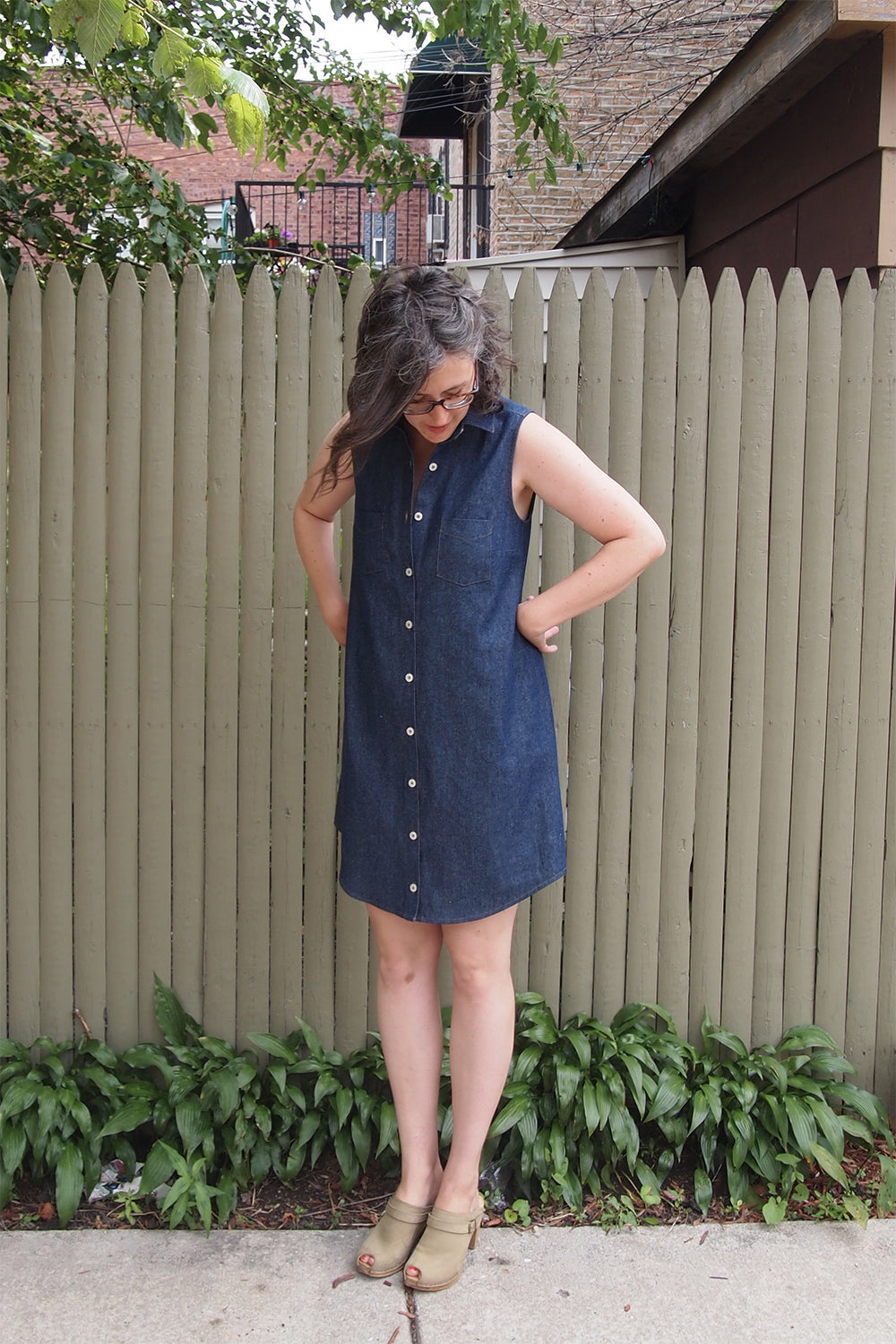 Grainline Studio | Alder Shirtdress V1: Dark Denim