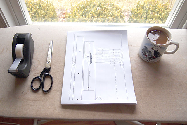 Grainline Studio | Archer Sew Along | Assembling Pattern
