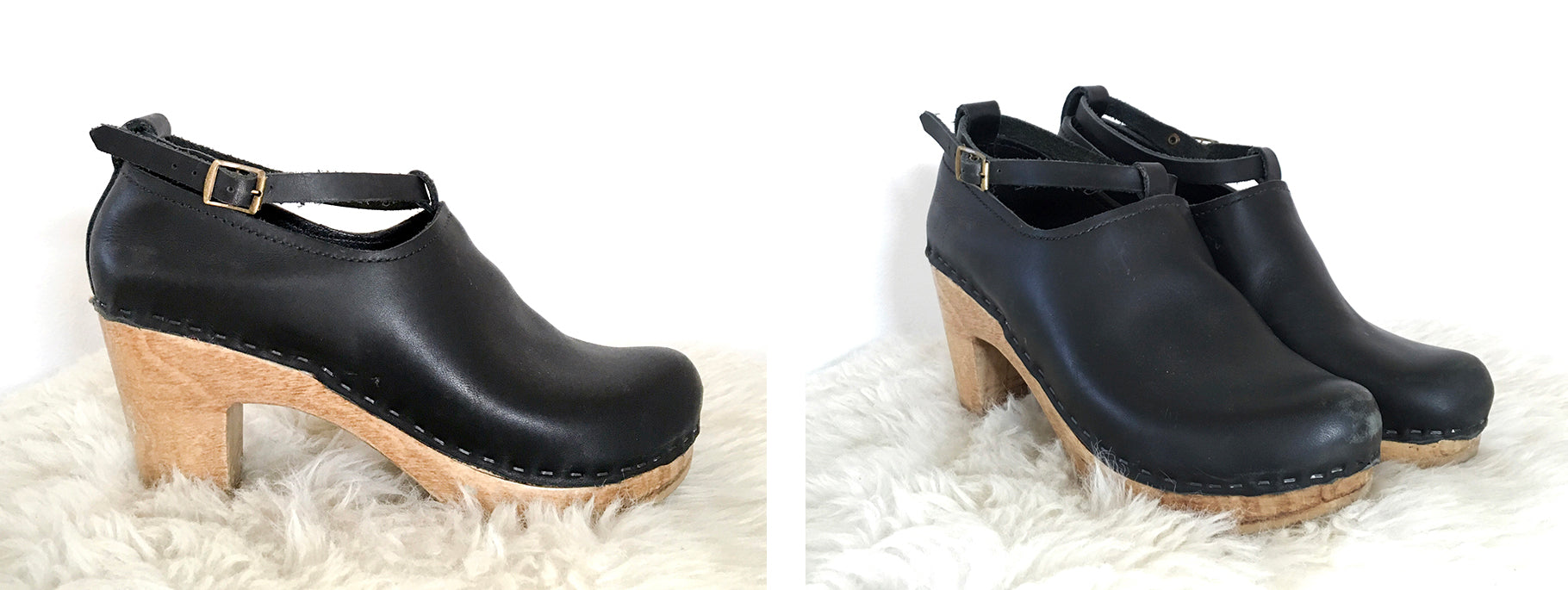Swedish Clogs Boots Black  Clog Boot  Boots with laces  Women/'s Clogs  Troentorp Clogs  Clog Boots for Women  Morris Boot Black