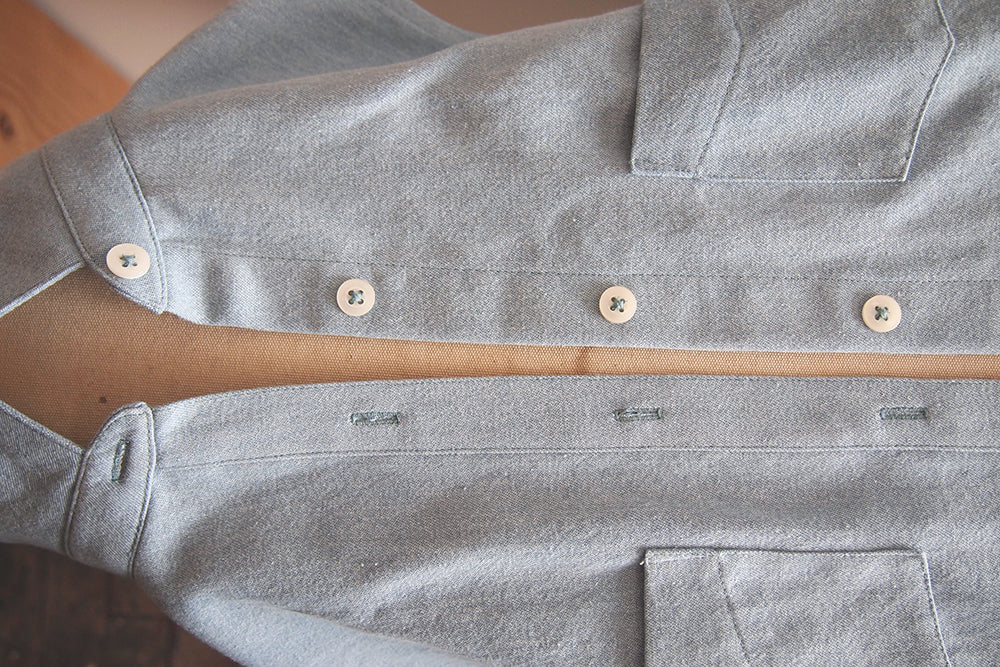 Grainline Studio | Alder Sew Along Day 13 | Buttons and Buttonholes