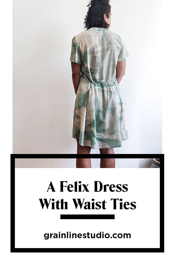 A Felix Dress with Waist Ties | Grainline Studio