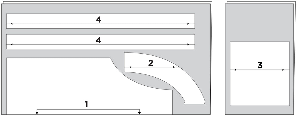 Grainline Studio Apron cutting requirements and layout