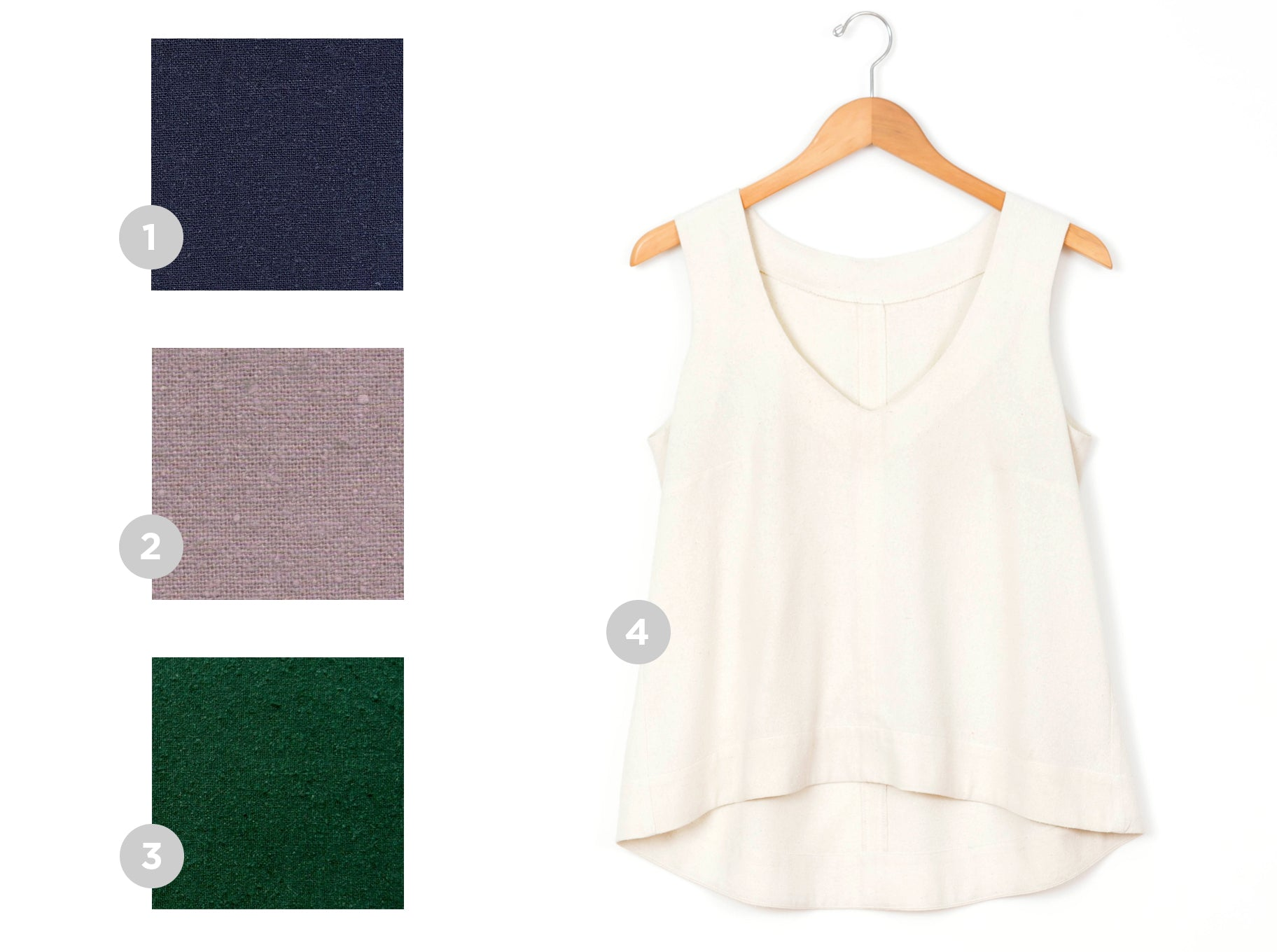 See our picks and tips for choosing the right fabric for your Hadley Top!