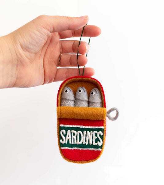 Can of Sardines Free Holiday Ornament Pattern Download | Grainline Studio