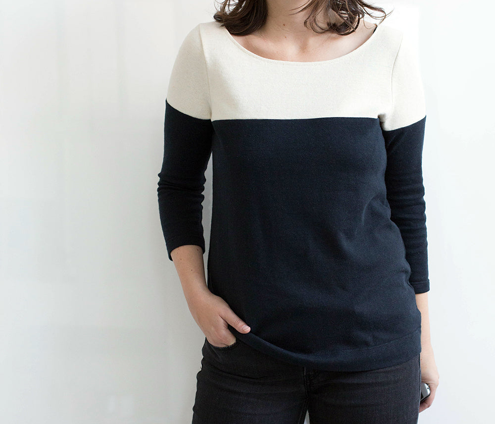 Lark Variation Three: Colorblock Top | Grainline Studio
