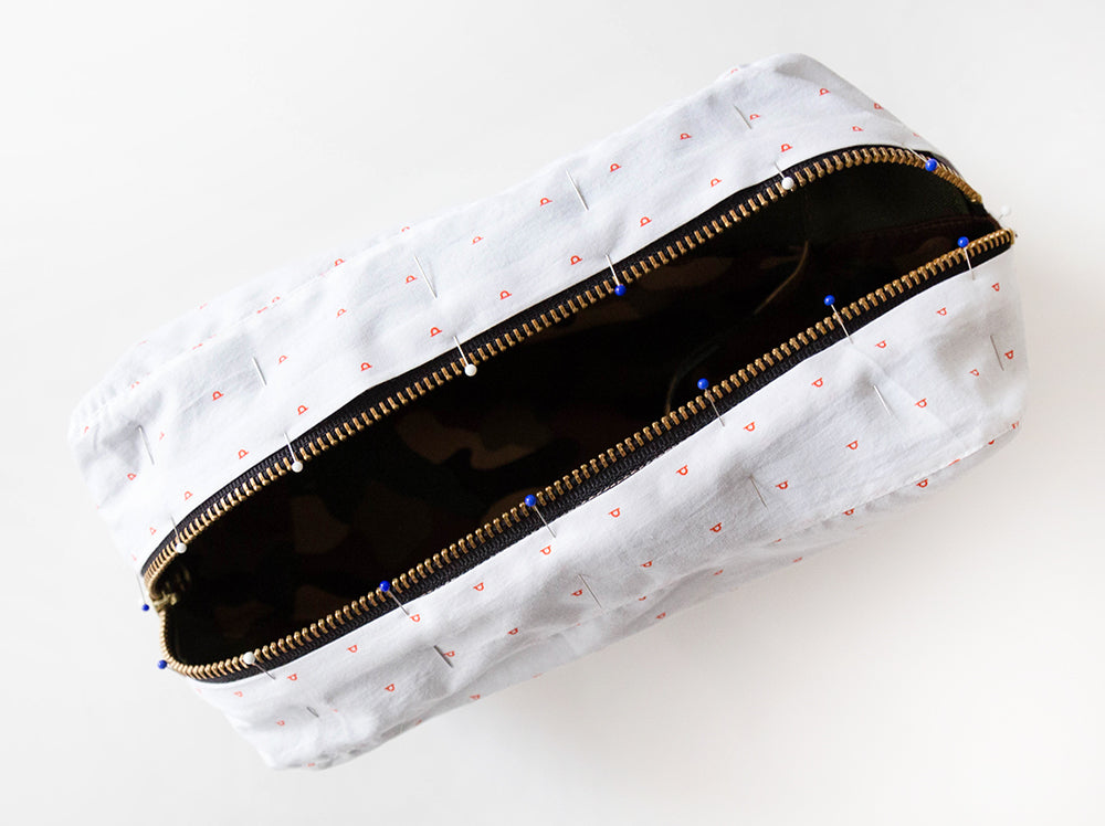 Portside Dopp Kit: Attaching the Lining