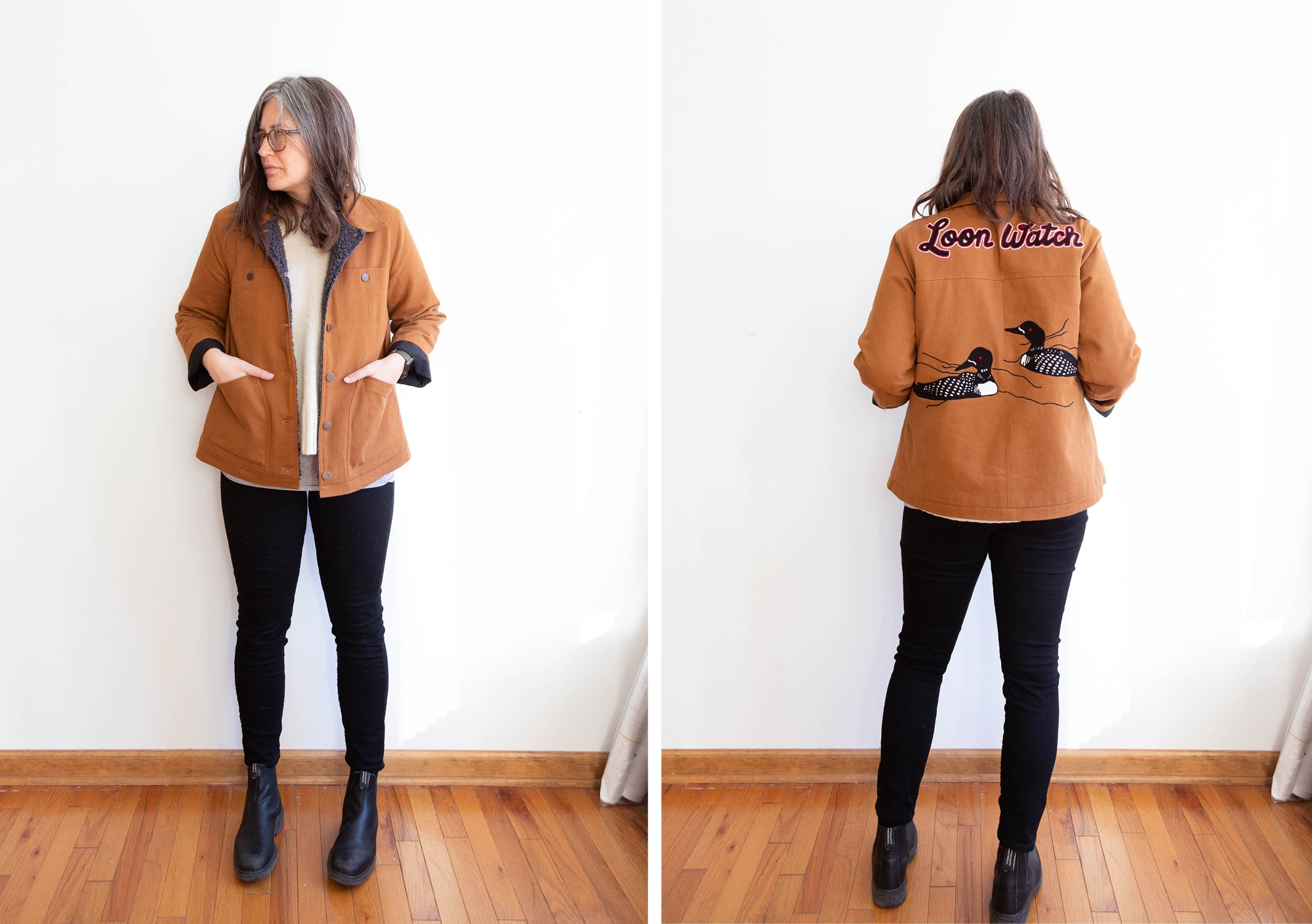 Jen's Thayer Jacket | Grainline Studio