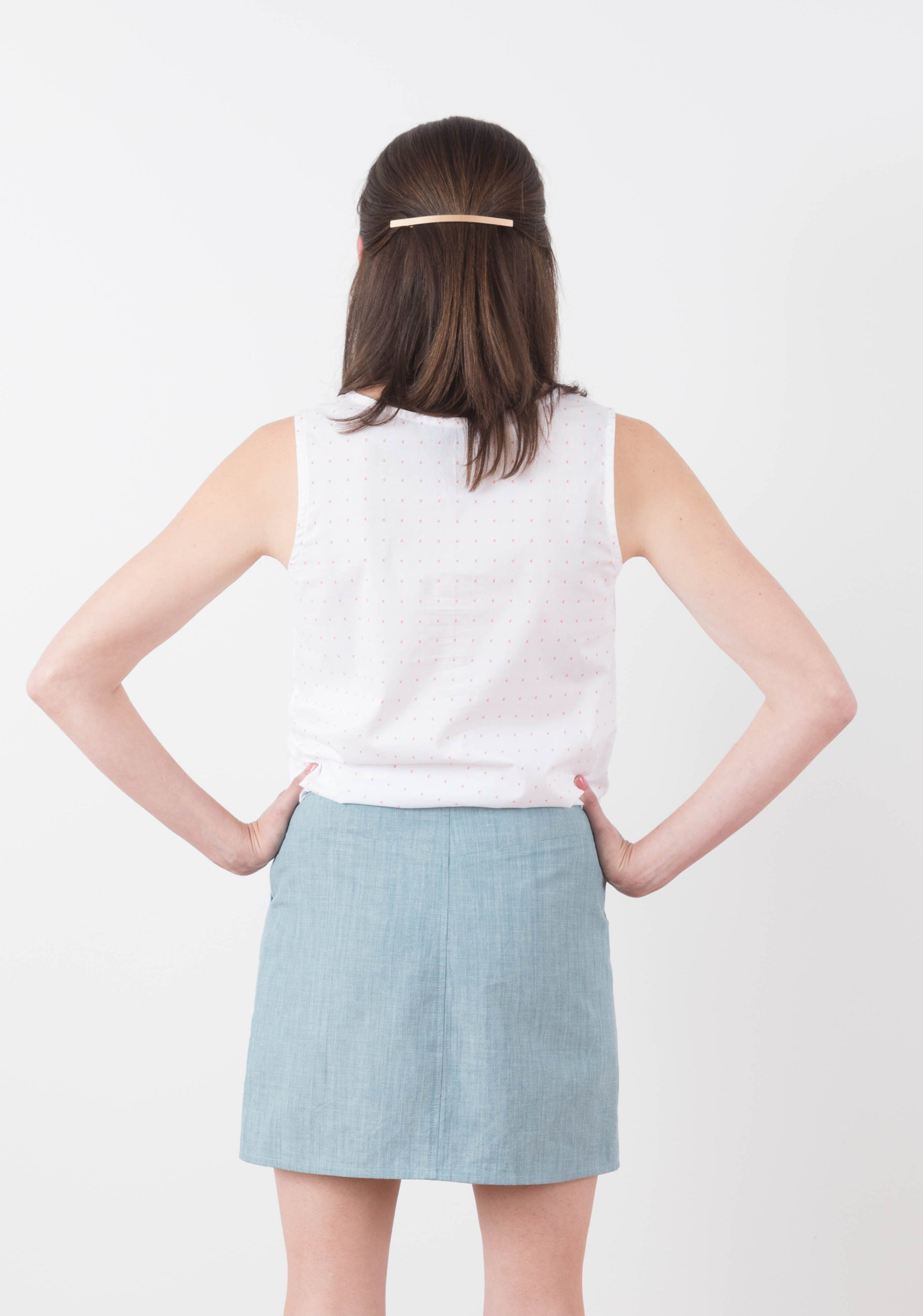A New Denim Moss (and raglan tee & watson bra) | Grainline Studio