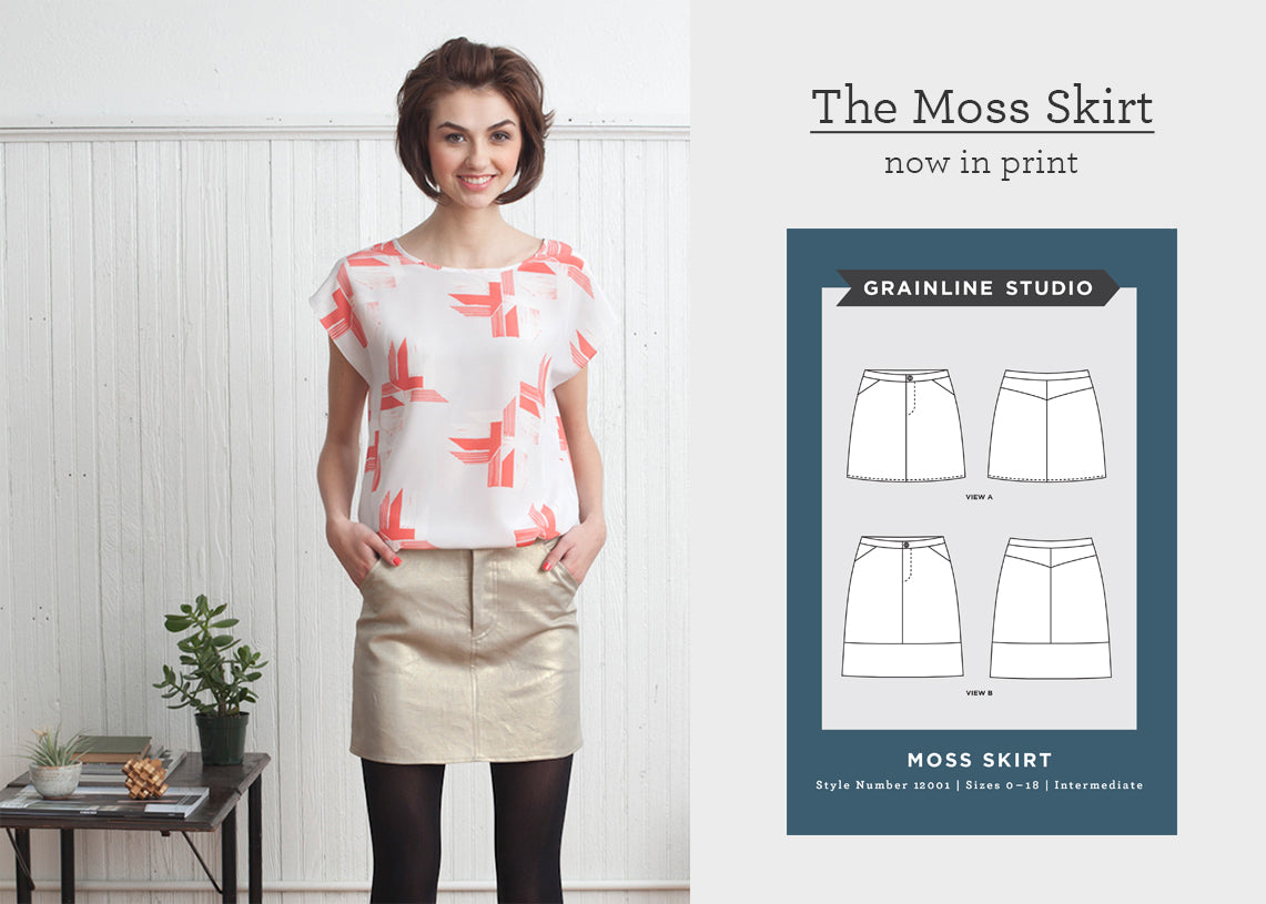 The Moss Skirt Now in Print | Grainline Studio