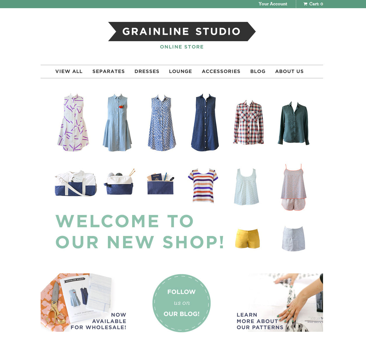 Grainline Studio | Shop Relaunch