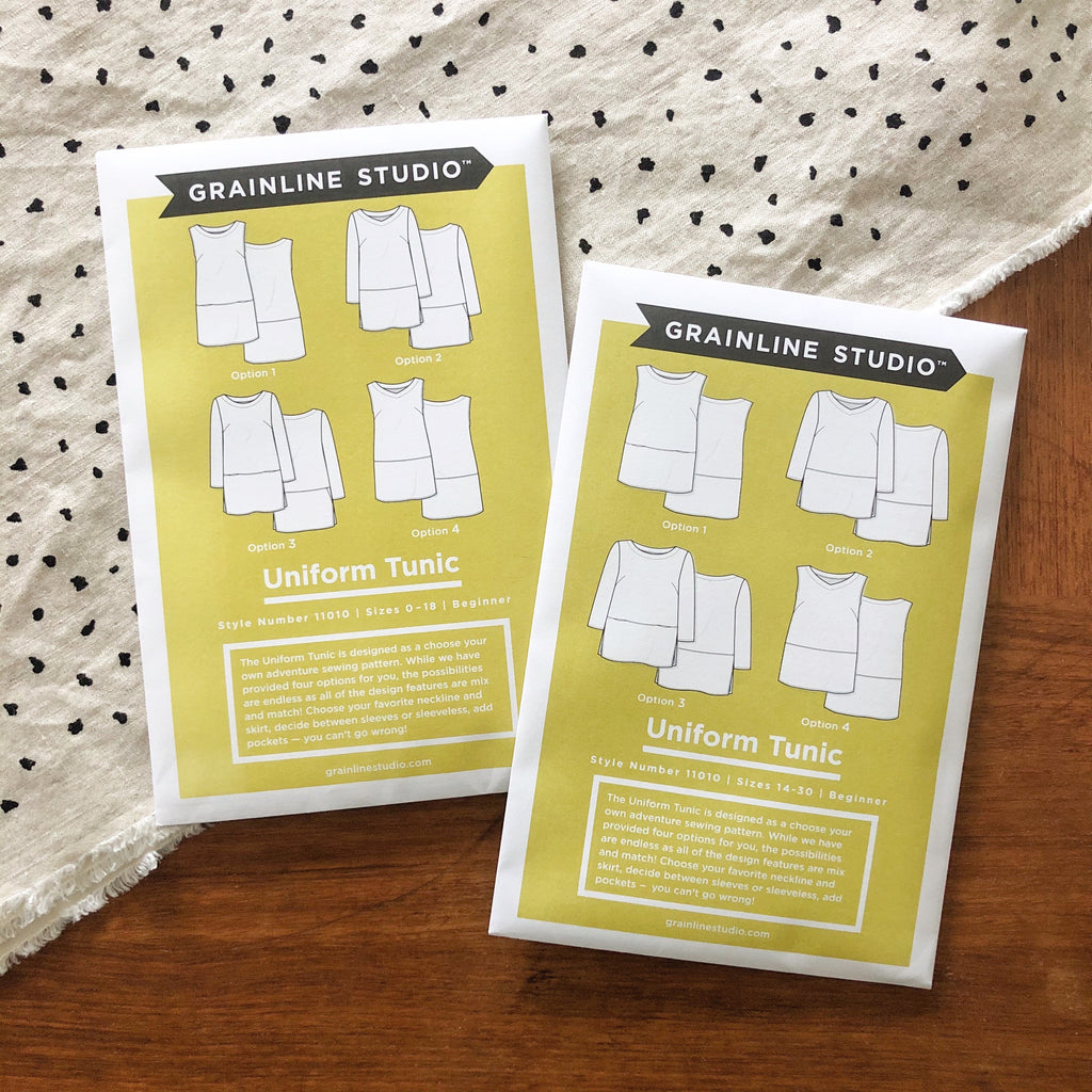 Uniform Tunic Paper Pattern Sizes 14-30 Now in Stock | Grainline Studio