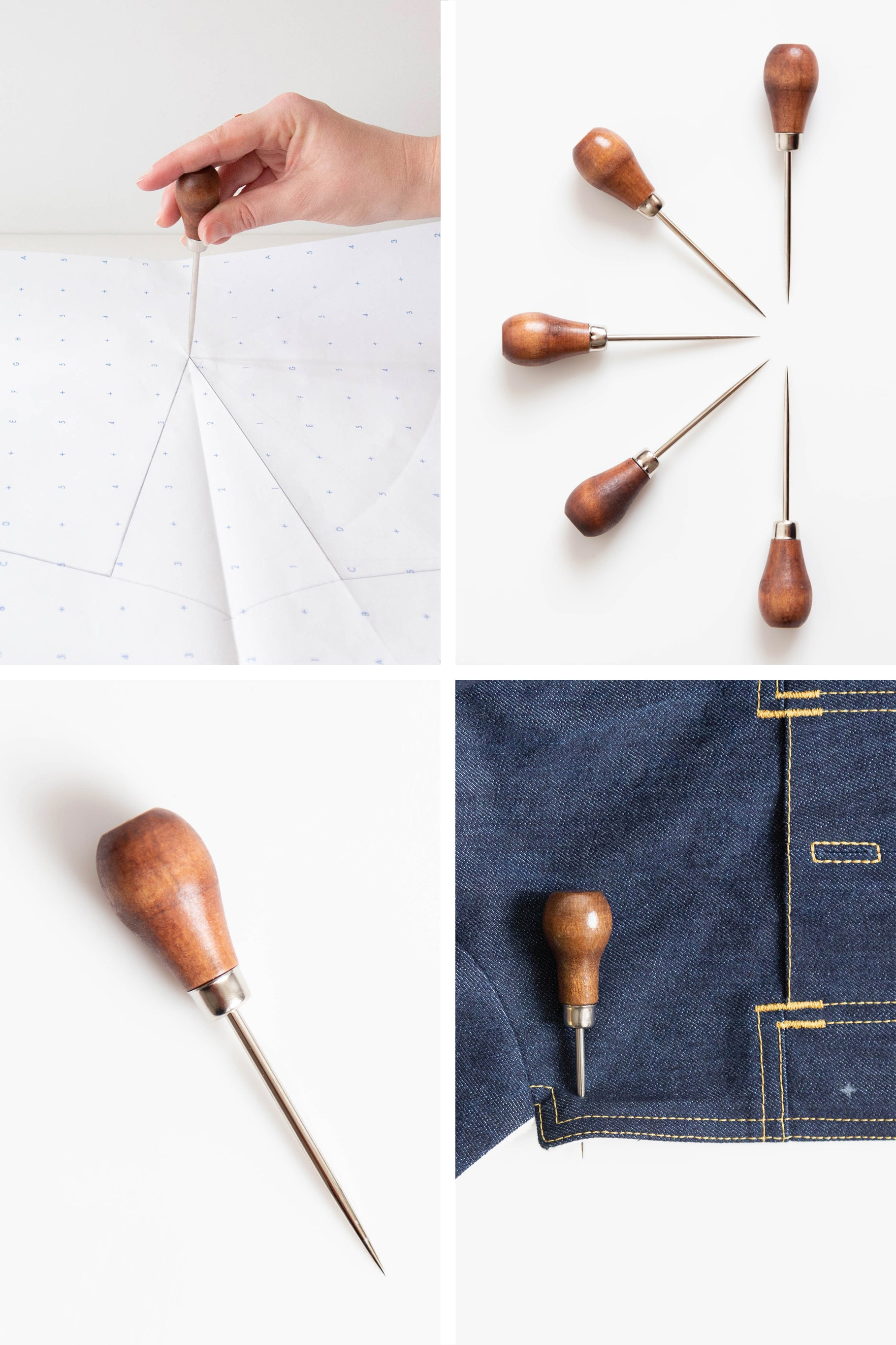 All About our Pattern Essentials Tool Kits | Wood Handled Awl | Grainline Studio