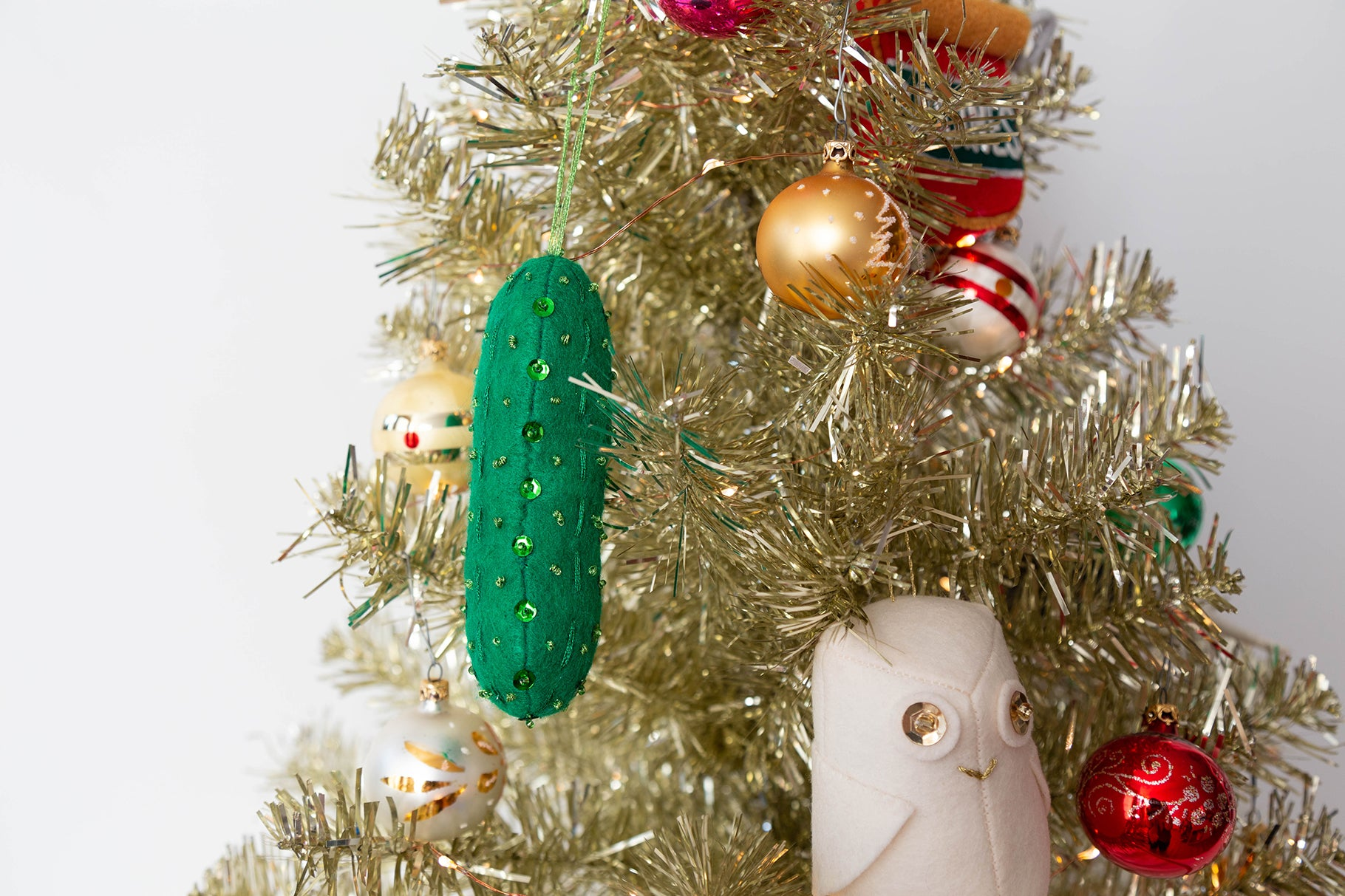 Free Christmas Pickle Ornament | Grainline Studio