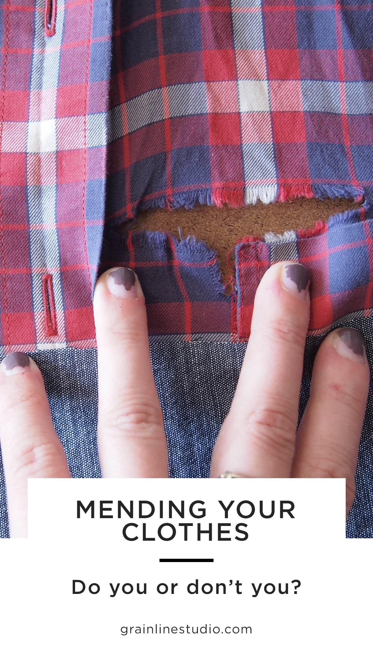 Mending - Do You or Don't You? | Grainline Studio