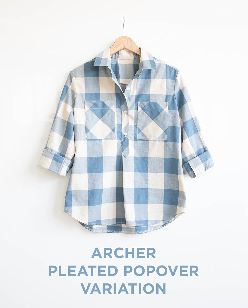 Archer Popover Placket Pleat Variation from Grainline Studio