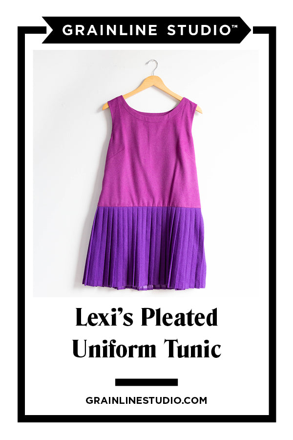 Lexi's Pleated Uniform Tunic | Grainline Studio