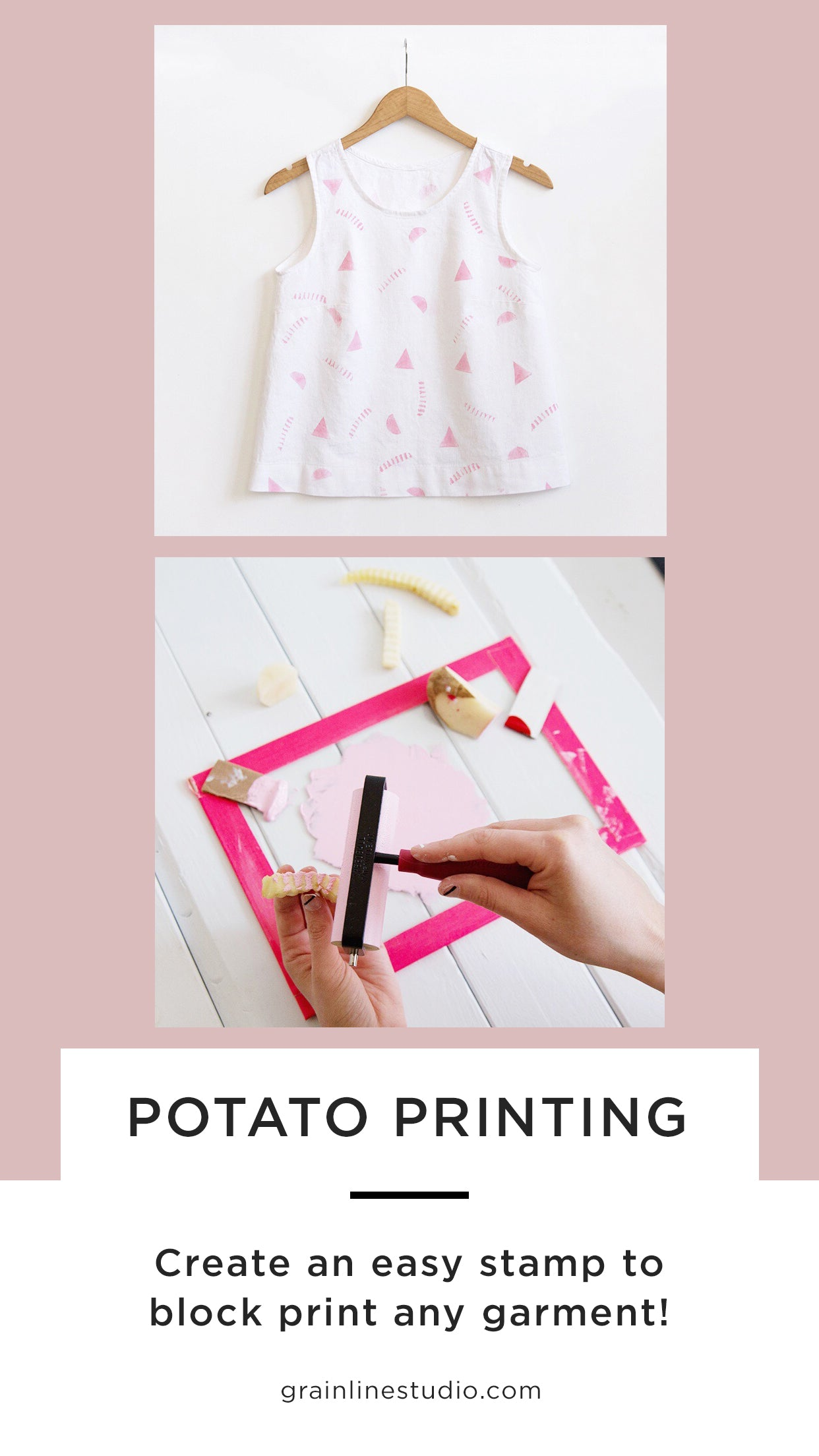 Potato Printing Fabric | Grainline Studio
