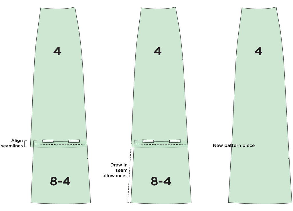 Reed Variation 03: Views B & D Length without the Hem Band
