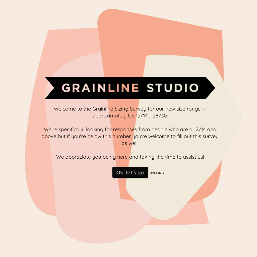 An Update on our New Size Range | Grainline Studio