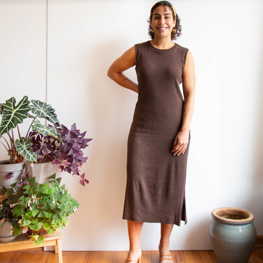 A Sleeveless Midi Length Lark Tee Dress | Grainline Studio