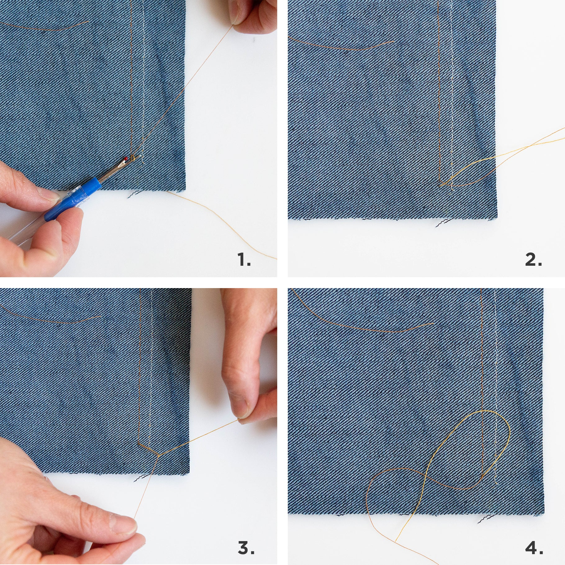 Our Top Tips for Professional Topstitching: Tying Off Your Threads | Grainline Studio
