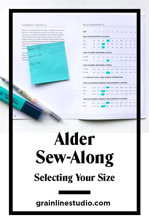 Alder Sew-Along Selecting Your Size | Grainline Studio